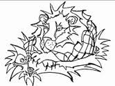 Aesops Fables The Lion And Mouse Coloring Page