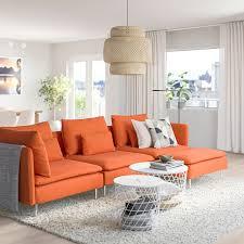 söderhamn 4er sofa mit récamiere samsta orange