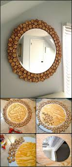 DIY Wood Slice Mirror This Unique Is Great For Your Living Area Bedroom Diy Home Decor ProjectsDiy