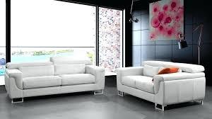 canapé salon pas cher canape cuir convertible 2 places canapac 32 places cuir blanc