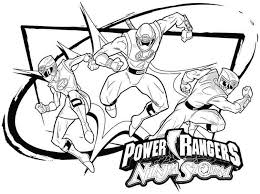Power Rangers Coloring Pages Ranger Page