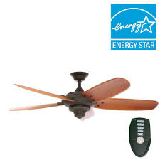 Flush Mount Ceiling Fans Home Depot by Home Decorators Collection Altura 56 In Indoor Oil Rubbed Bronze