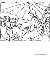 Bible Story Color Page Religious Religion Coloring Pages Plate Sheet