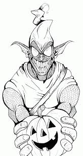 Green Goblin Coloring Page Pages Free Home Download
