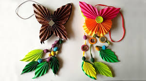 DIY How To Make Origami Paper Butterfly Dangler
