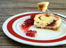 Mini Cherry Swirl Cheesecakes