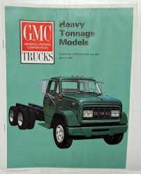 100 1966 Gmc Truck GMC S Gasoline Heavy Tonnage Models Sales Brochure Red Logo