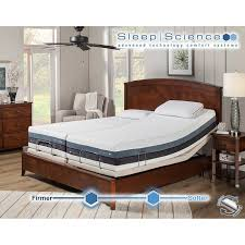 "Sleep Science 12"" iFlip Sonoma Split King Dual fort Memory Foam"