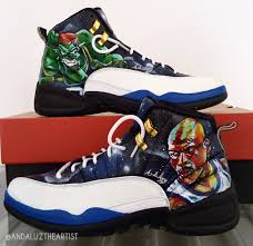 100 Space Jam Foams Andaluz The Artist Custom Painted Jordans Awesome