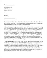 Letter of Intent Sample 10 Free Documents in PDF Doc
