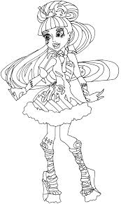 Monster High Dolls Coloring Pages 19 Frankie Stein Thirst