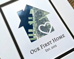 Our First Home Personalized Map Matted Gift New House