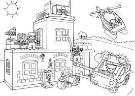 Lego Duplo Police Station Coloring Pages