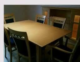 esszimmer ahorn tisch 6 stühle sideboard