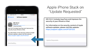"""Apple iPhone iOS 10 3 1 Update Stuck on """"Update Requested"""