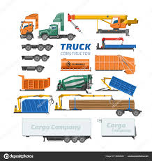100 Concrete Truck Delivery Constructor Vector Delivery Vehicle Or Cargo Transportation