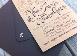Hand Lettered Kraft Paper Wedding Invitations By Grey Snail Press Via Oh So Beautiful