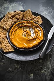 Pumpkin Hummus Recipe Without Tahini by Smoky Pumpkin U0026 Black Sesame Seed Hummus