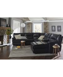 Garraway Leather Power Reclining Sectional Sofa Collection With