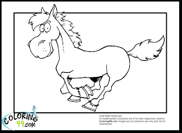 Printable Wild Horse Pictures Cute Cartoon Coloring Pages Free Head Images Full Size