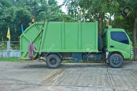 Green Garbage Truck. Stock Photo, Picture And Royalty Free Image ...