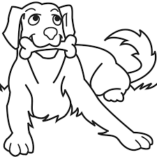 Coloring Pages Of Dogs And Horses Dog Bone Free Printable For Kids Christmas