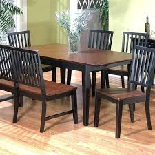 Kitchen Table Benches With Backs Black Bench Dining Room Inspiring Design Ideas