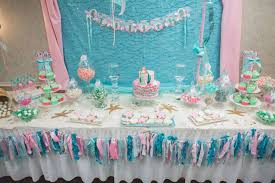 DIY Mermaid Baby Shower Table Decorations Complete Image Credit Catchmyparty Cdn