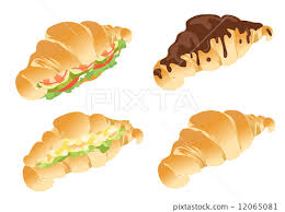 Croissant Sandwich Chocolate Vector 12065081