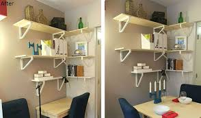 Office Shelf Ideas Wire Shelving Desk Small Home Full Bookshelf