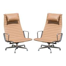 Eames Aluminum Group Lounge Chairs In Camel Leather By Charles & Ray Eames  For Herman Miller, Pair Mies Van Der Rohe Krefeld Lounge Chair Butterfly Camel Leather Suede Mid Century Modern Leather Chair Keylocationsco Set Falcon Chairs Or Easy By Sigurd Ressell Chelsea Living Room Shop Online At Overstock Husband And Wife Team Combine To Create Onic Lounge The Alex Leatherette Recliner Sofa 3 Seater In Color Midcenturymodern German Swivel 1960s Pernilla In Colored Tufted Bruno Mathsson For Dux Elephant Dark Stained Vintage