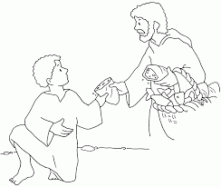 Boy Gives Jesus Bread And Fish