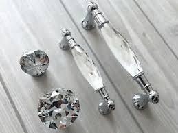 details zu 96 128 mm glas kristall möbelgriffe schrank griffe möbel knauf türgriffe küche
