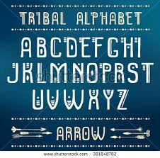 Tribal Alphabet Vector Ethnic Letters And Arrows Cute Funny ABS For Your