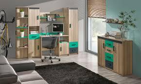 jugendzimmer komplett set b marcel 7 teilig farbe esche türkis grau braun