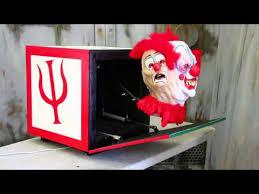 Homemade Animatronic Halloween Props by Jack In The Box Creepy Clown Pneumatic Halloween Prop