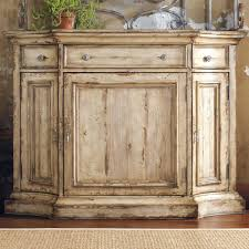 Colored Distressed Furniture Hooker Three Door Drawer Two Buffet Item Number
