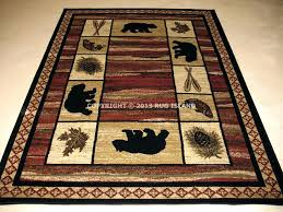 Indoor Area Rug Rustic Style Rugs Lodge