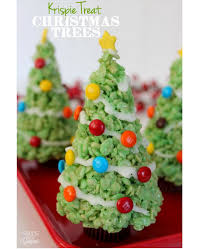 Krispie Treat Christmas Trees Eat More Chocolate