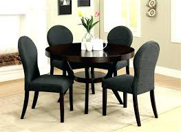 Round Dinner Table Set Dining Tables Perfect Black Room Sets And Glass Top