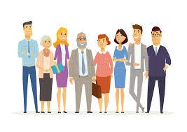 equipe bureau équipe de bureau illustration moderne de personnages de dessin