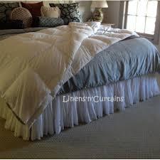 READY KING Size WHITE VOILE Fuller Ruffle Bed Skirt upto 18