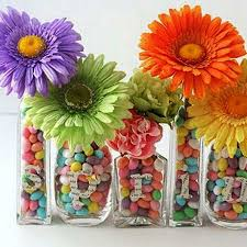 Candy And Flower Arrangements For Spring Decorating