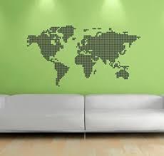 pixel map wall decal rund ums haus ideen haus