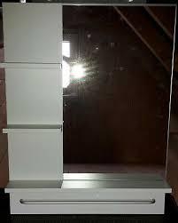 ikea lillången spiegel weiß für badezimmer etc mit ablage rechteckig ebay