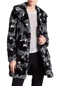 betsey johnson faux fur floral pattern jacket nordstrom rack