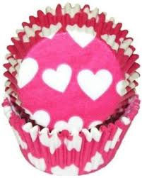 Amazing Deal On Hot Pink Heart Baking Cupcake Liners Standard Size