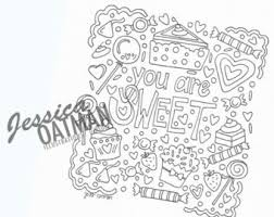 Valentines Day Coloring Page Pages Candy Art Adult Color
