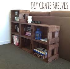 Wood Crate Shelf Diy by 44 Best Crates Images On Pinterest Crate Shelving Projects And Home