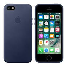 iPhone SE Leather Case Midnight Blue Apple